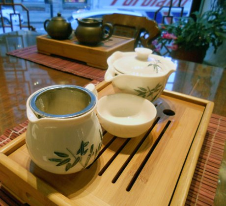 Our tea service at Ming Tao Xuen.