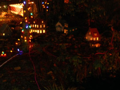 This sweet little miniature village was one of my favourite vignettes.
