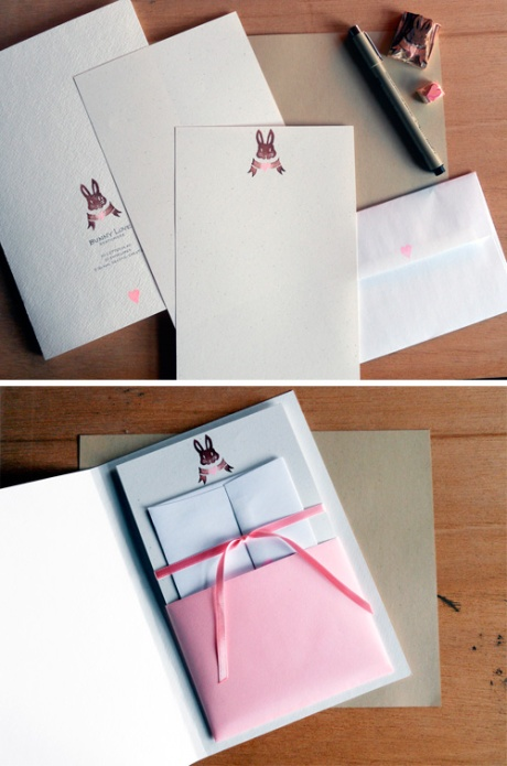 Bunny Love Stationery Set