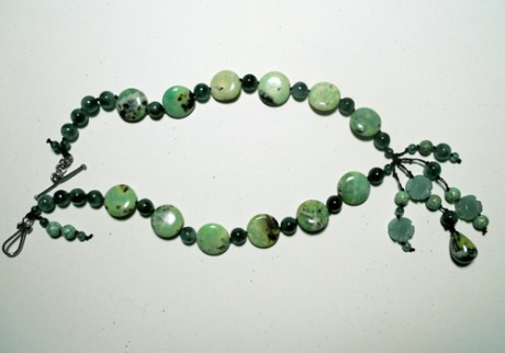 A gift of a green necklace, by special request.