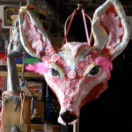 Deer Mask by Annie Nazarian.