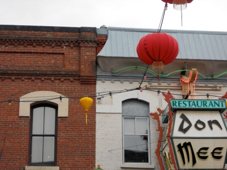 The classic shot with Don Mee Restaurant, a Victoria landmark for more than 80 years.
