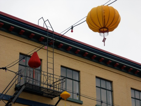 The Holiday decorations came down last week and up went new lanterns, some of them yellow.