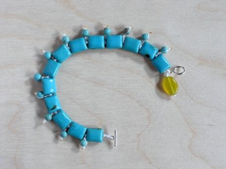 Sea tones stone bracelet. Firehorse Designs, Victoria BC