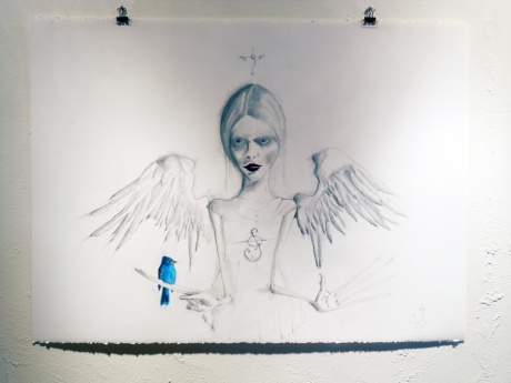 Bluebird of Happiness on the wall at Dales Gallery.