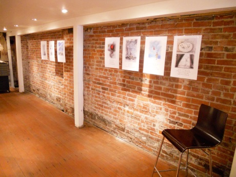 We hung samples of the prints we had made along the back wall.