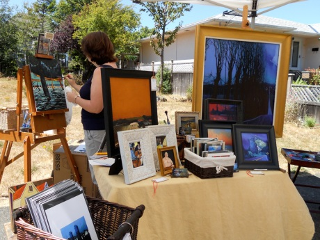 Karen Lynn Kaiser and Marshall Hugh Kaiser displayed their work together, as they do at their studio in Dragon Alley.