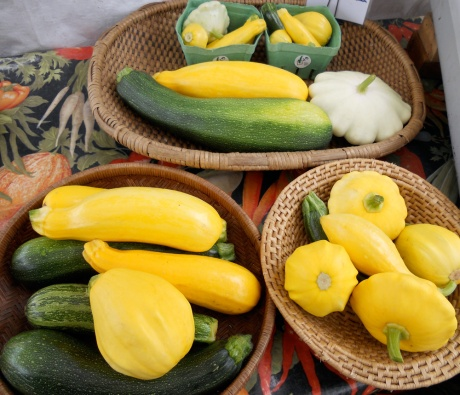 Summer squash comes in so many shapes and sizes, and colours!