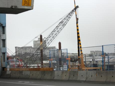 Work begins on the new bridge.