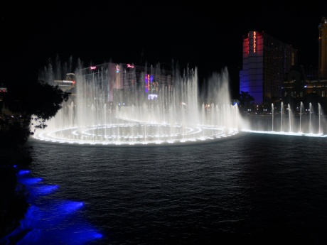 The dancing waters at Belagio. There is video on their website.