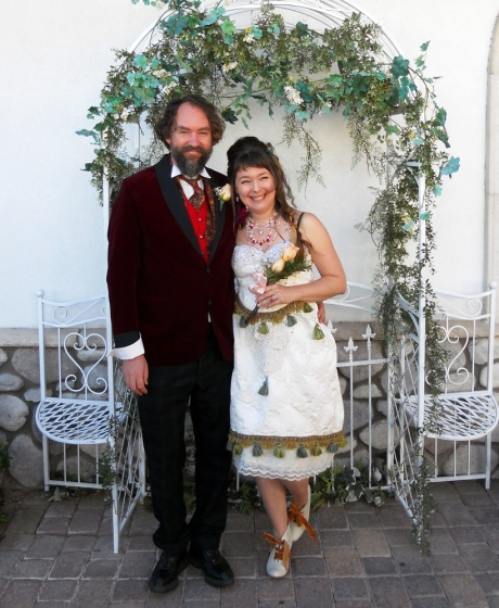 My gorgeous GJ and me, just after the ceremony; such fun!