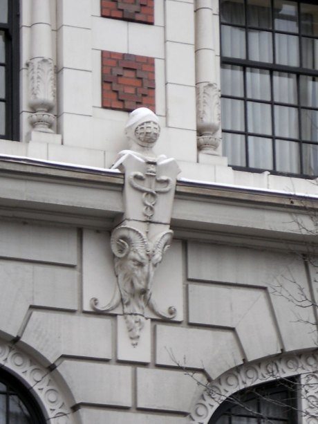 Davenport Hotel, architectural detail.