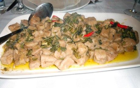Porcini mushroom gnocchi, divine!