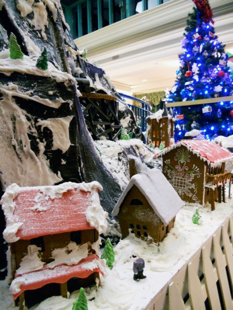 A lovely little gingerbread village mixed in with the festive trees at the Fairmont Empress Hotel. A large display of gingerbread houses is also viewable at the Inn at Laurel Point.