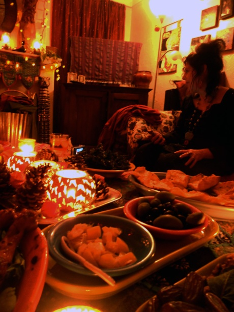The warm glow of great friends and delicious food; the Spirit of the Season!