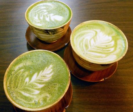 So amazing maple maccha lattes at JagaSilk.