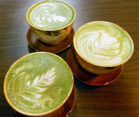 So amazing maple maccha lattes at JagaSilk.