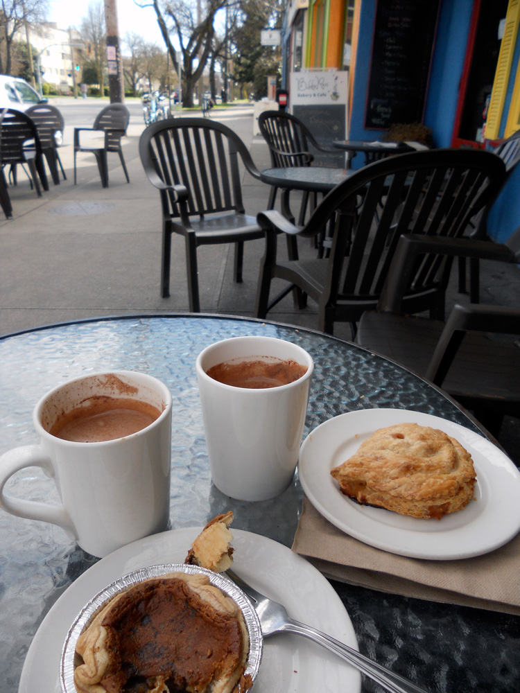Time for a treat: hot chocolates and snacks at Bubby Rose's Bakery.