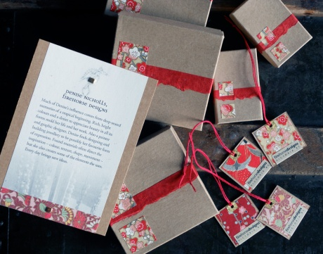 Some gift boxes and tags for the pieces at Eclectic.
