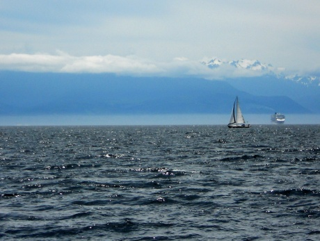 The Olympic Peninsula viewed from Victoria BC.