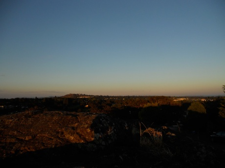 Looking east towards Mt Tolmi.