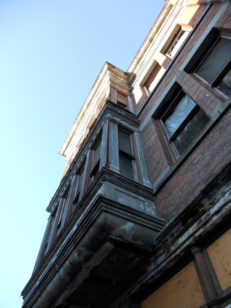The Janion Hotel, 1891, has been derelict for decades and is now being converted into micro loft condos; Victoria BC Canada.