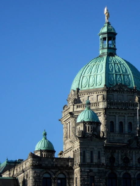 The Parliament Buildings, home to the BC legislative assembly, was designed by Francis Rattenbury in 1893 and built between 1893–1898; Victoria BC Canada.