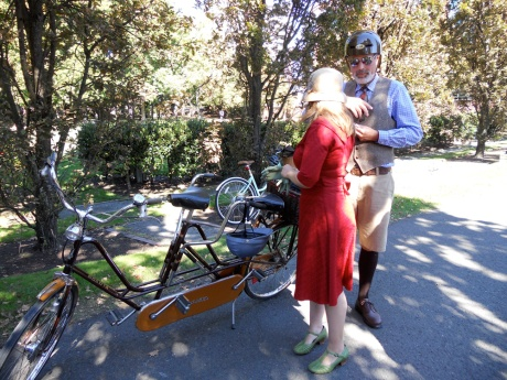 One of my favourite bicycles: a vintage Sparta tandem ridden by a lovely couple.