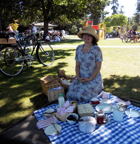 Our friend Francis took this pic of me and the picnic I prepared. Thank you Francis!