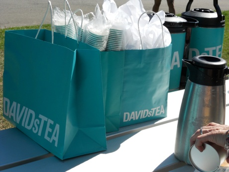 David's Tea, one of many sponsors, provided the tea service this year.