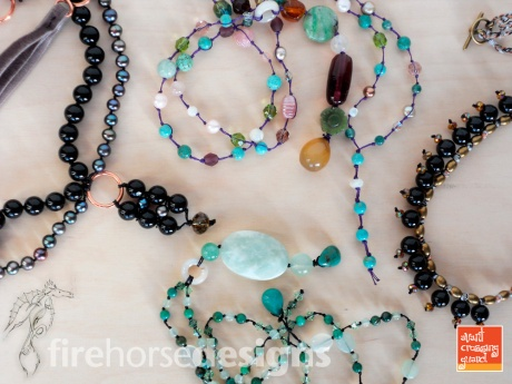 Four new necklaces. © Firehorse Designs, 2014.