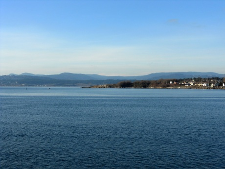 Looking southwest towards the Sooke hills.