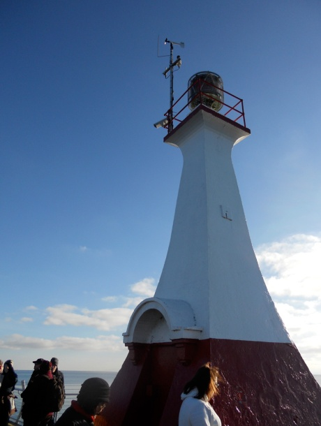 The breakwater and lighthouse were completed in 1916.