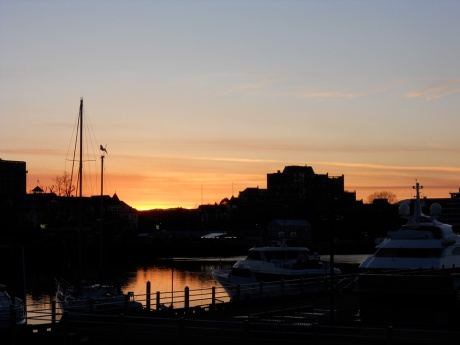 Inner Harbour, Victoria BC – sunset, March 2, 2015.