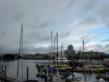 The Inner Harbour looking very foreboding.