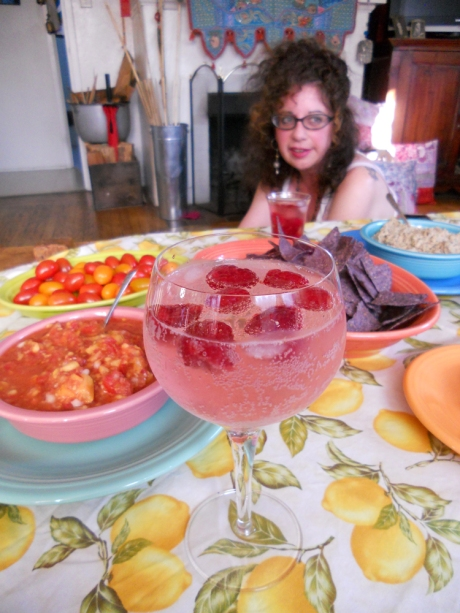 And, she made us a lovely meal and delicious gin and rosewater cocktails!