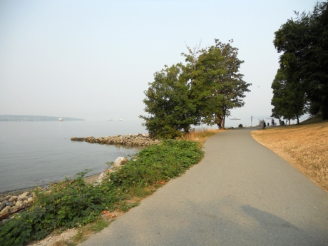 Pre-breakfast walk along the Stanley Park Sea Wall.