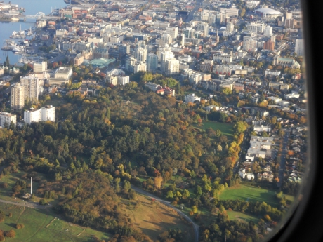 Victoria BC: Inner Harbour, downtown and Beacon Hill Park.