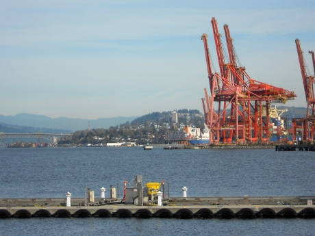 Looking up the Burrard Inlet towards where we had been earlier.