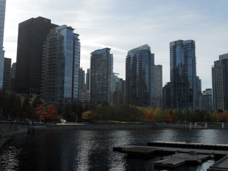 Last view of the Coal Harbour walkway as we head to our plane back to Victoria.