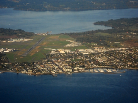 Victoria Airport in Sidney.