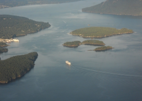 BC Ferries vessel sailing into Swartz Bay.