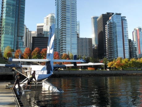 Beautiful Coal Harbour at the Harbour Air terminal.